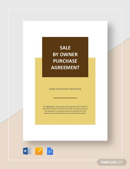 sale by owner purchase agreement for Purchase Agreement For Business