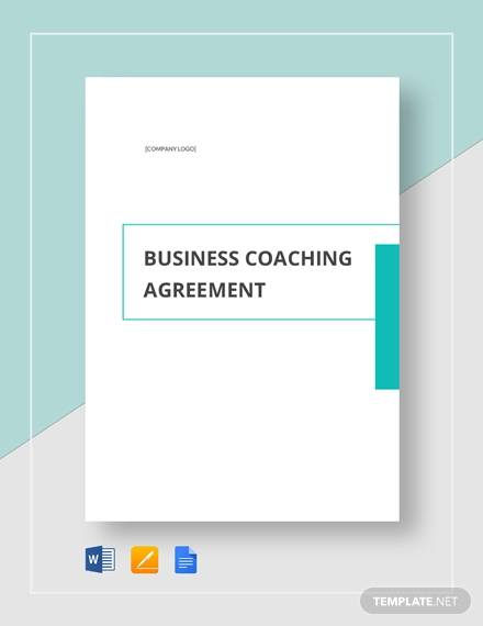 Business Coaching Agreement Template for Business Coaching Agreement