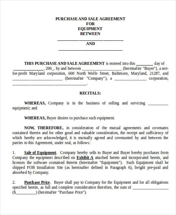 Business Sale Contract Agreement Form for Business Agreement Form