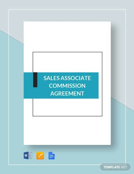 Commission Agreement Template for Commission Agreement