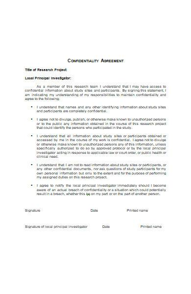 Confidentiality Agreement in MS Word