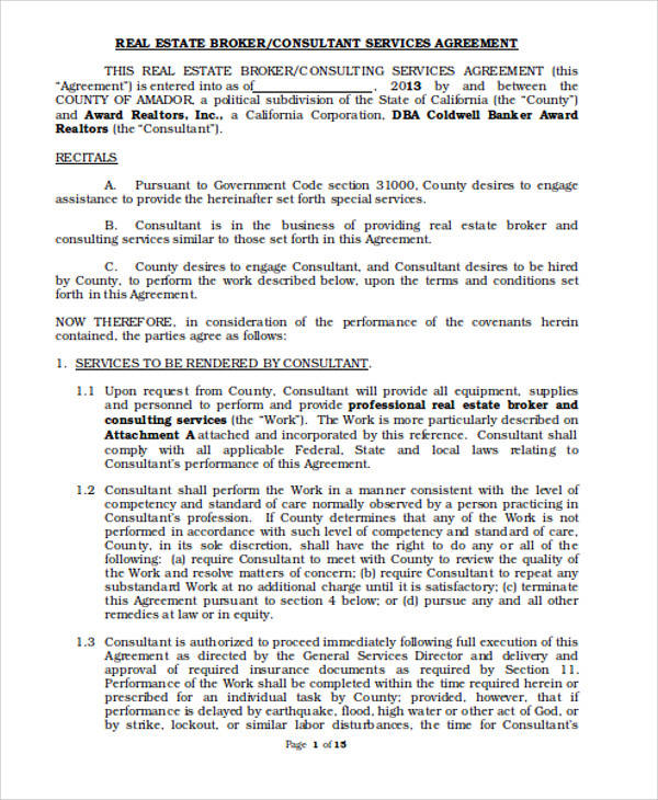 Consulting Services Agreement for Agreement In Word