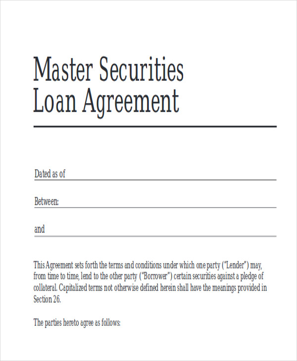 Free Business Loan Agreement Example for Free Sample Agreements