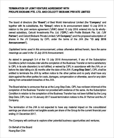 International Joint Venture Agreement for Agreement In Pdf
