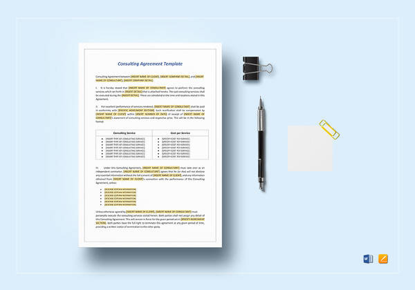 Simple Consulting Agreement Template for Student Agreement Contract