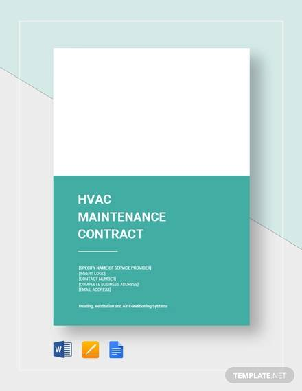 hvac maintenance contract for Maintenance Contract Agreement