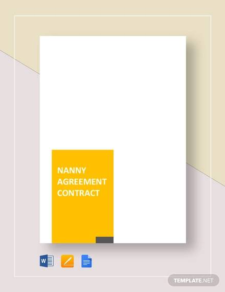 nanny agreement contract for Nanny Agreement Contract